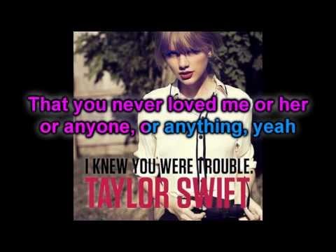 Karaoke : I Knew You Were Trouble - Taylor Swift (Official Instrumental)