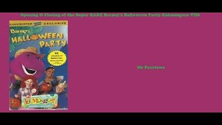 Barney's Halloween Party Kidmongous Super RARE VHS Opening & Closing