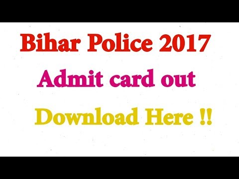 Bihar police admit card 2017 released how to download it