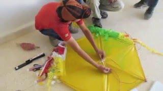 learning with life experts: kite-making... :التعلم مع حريفة الحياة: عمل الطائرات الورقية