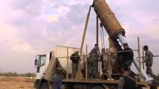 مسرب صاروخ زلزال الذي تقصفه عصابات الأسد على المدنيين بريق دمشق