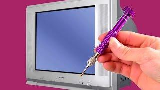 تفكيك جهاز تلفاز وإصلاحه أمام الكاميرا وشرح مكوناته