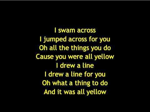 Coldplay Yellow Lyrics