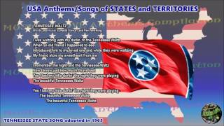 Tennessee State Song TENNESSEE WALTZ with music, vocal and lyrics