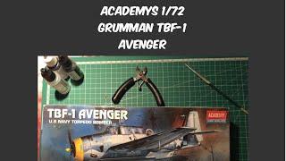 Academy 1/72 Grumman TBF-1 Avenger In Box Review