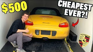 I Bought a TOTALED Porsche For $500 at Salvage Auction SIGHT UNSEEN!