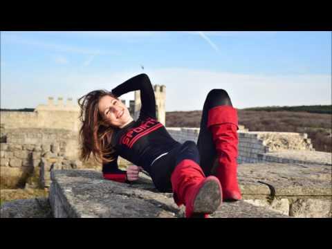 Sexy Nina in red wetlook leggings and high heels ★ spy cam ON ★