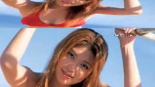 Hot Japanese Girl in Red Bikini