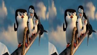 VR video cardboard - The Penguins of Madagascar 2014  [3D Side By Side]