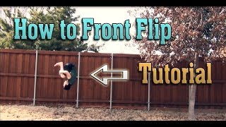 (How to) Front Flip / Front Tuck on Flat Ground Tutorial