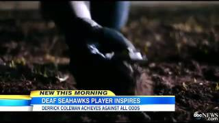 Super Bowl 2014: Seahawk`s Derrick Coleman First Legally Deaf Playe