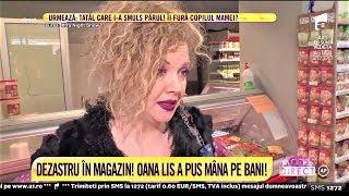 Oana Lis, casieră cu cântec la supermarket!