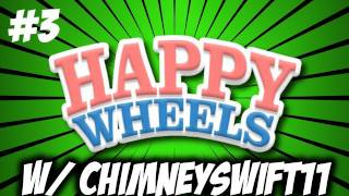 Happy Wheels w/ ChimneySwift11 #3 - Throwing Knives, Swords, and Sharp Things (HD)