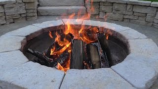 How to get fresh air into a firepit