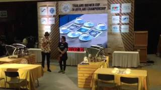 Thailand latte art Championchip 2016 final 6