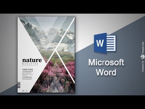 Create Cover Page in Microsoft Word Natural Magazine Cover Designing in MS Word