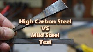 High Carbon Steel vs Mild Steel Test