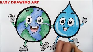 How To Draw Save Earth And Stop Global Warming Drawing For Kids