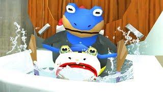 BAT FROG FLUSHES JOKE FROG DOWN THE MAGIC TOILET! - Amazing Frog - Part 134 | Pungence
