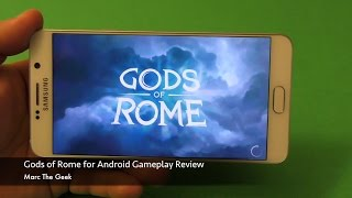 Gods of Rome for Android Gameplay Review