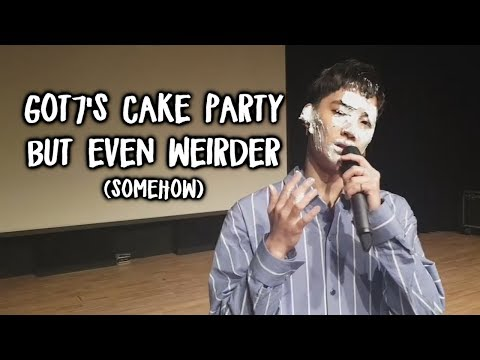 Got7 s cake party but every time they re weird a Got7 meme appears