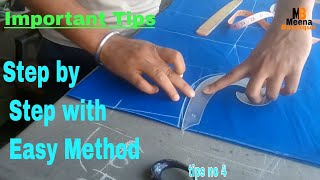 kameez / suit cutting very easy method step by step / important tips for  beginners