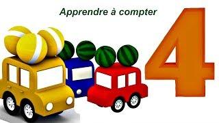 Compilation № 4 - 4 voitures pour apprendre les couleurs