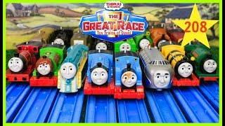 THOMAS AND FRIENDS THE GREAT RACE #208 Trackmaster Trophy Thomas|Kids Playing Toy Trains