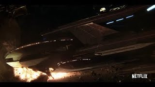 Star Trek Discovery - Klingon Ship Crash Into USS Europa - Admiral Ship Self Destruct