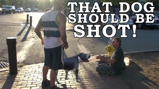Does The Public Fear Pit Bulls? Aggressive Dog Breed Social Experiment!