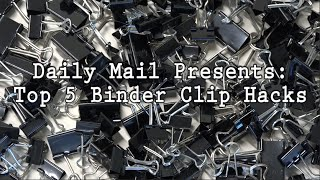 TOP 5 ULTIMATE LIFE HACKS WITH A BINDER CLIP