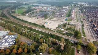 Amsterdam Diemen area from sky / Mavic Pro drone