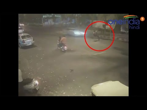 Delhi Mercedes hit-and-run accident CCTV footage, Watch video