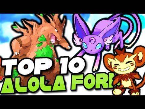 TOP 10 JOHTO POKEMON THAT SHOULD GET ALOLA FORMS! - Pokemon Sun and Moon Alola Forms