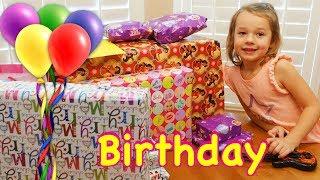 Opening Birthday Presents Happy Birthday Ava! Barbie RV, Disney Lego Gifts & The Best Girl Toys