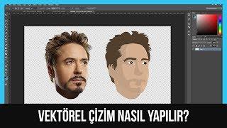 Photoshop Dersleri #6 - Vektörel çizim nasıl yapılır? 2 (DAHA DETAYLI!)