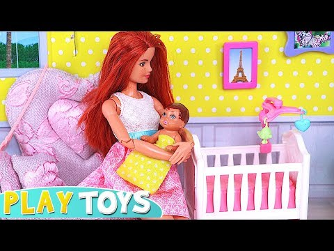 Xxx Mp4 Barbie Doll BabySitter For Baby Doll And Cute Little Doggy 🎀 3gp Sex
