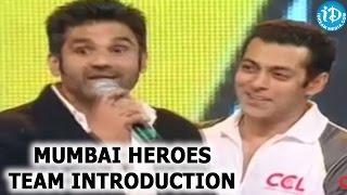 Mumbai Heroes Team Introduction at CCL 2 Curtain Raiser - Salman Khan, Sunil Shetty, Sohail Khan