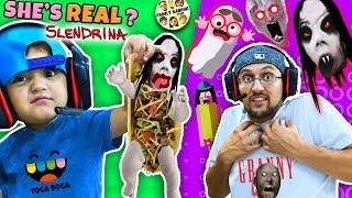 Escape SLENDRINA Taco + Granny Extra Dark & FGTEEV plays Toca Boca BOO! Halloween Game