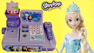 Disney FROZEN Cash Register / Olaf, Princess Anna, Queen Elsa Toys Shopping Belle, Cinderella / TUYC