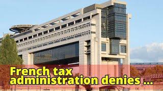 French tax administration denies targeting Jews