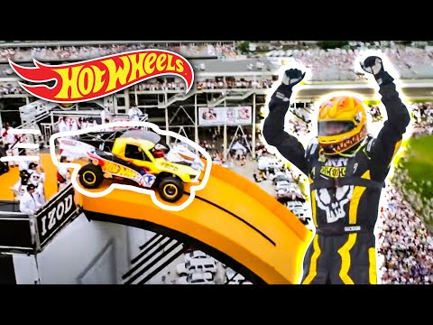 Team Hot Wheels The Yellow Driver s World Record Jump Tanner Foust Hot Wheels