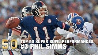 #3: Phil Simms Super Bowl XXI Highlights | Broncos vs. Giants | Top 50 SB Performances