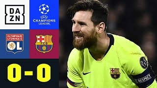 Lionel Messi & Co. ohne Fortune: Olympique Lyon - FC Barcelona 0:0 | UEFA Champions League | DAZN