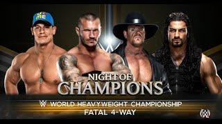 WWE-2K16 -Undertaker vs Randy Orton vs John Cena vs Roman Reigns :WWE World Heavyweight Champion