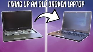 I found and restored a free laptop from the dump