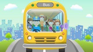 Wheels on the Bus School Songs in Car City - nursery rhyme for Kids songs for children