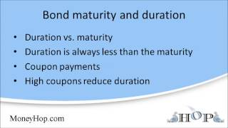 Bond maturity and duration