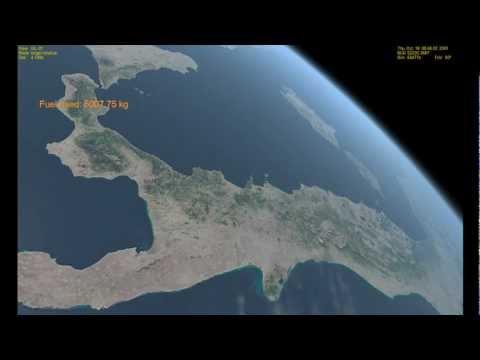 L Italia vista dallo spazio con l astronave di Orbiter