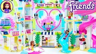 Lego Friends Heartlake City Resort Part 1 - Beach Hotel Speed Build Review
